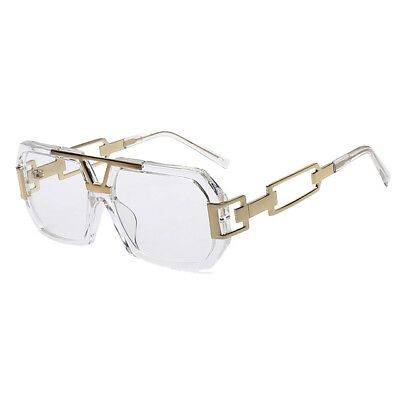 Men's Gold Clear Paid In Full Large Frame Glasses