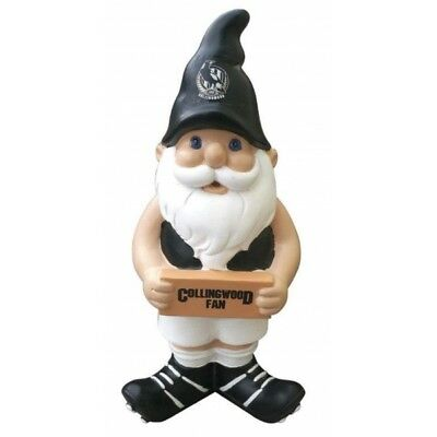 Collingwood Magpies Official AFL Garden Gnome with Sign