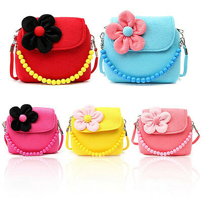 Children Kid Girls Princess Messenger Shoulder Bag Beads Chain Handbag Reliable