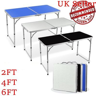 Folding Trestle Table Picnic/camping/bbq Banquet/party/garden 2/4/6Ft Heavy Duty