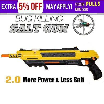 Salt Gun for Flies Insect Stink Bugs Insect Mosquito Bug Home Pest Control