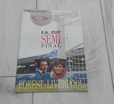 507) Nottingham Forest v Liverpool programme fa cup semi final 9-4-1988
