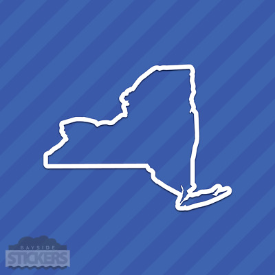 New York NY State Outline Vinyl Decal Sticker