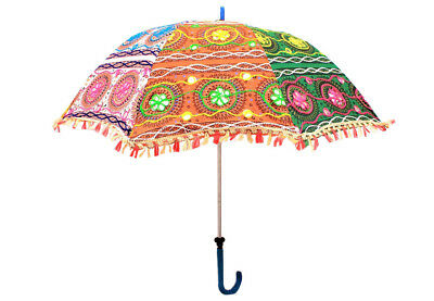 Jaipuri Handmade Gypsy Decorative Indian Sun Parasl for Festivals and Beach