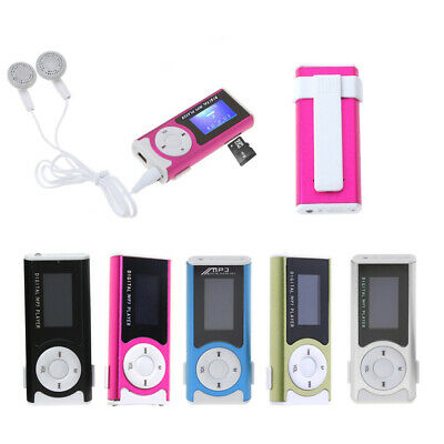 Digital Music MP3 Player USB Aluminum Mini LCD Screen 32GB TF Card Clip Design
