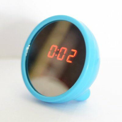2 in 1 Cute Mini Digital Magical Mirror Mute LED Snooze Alarm Timer Clock NEW