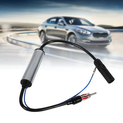 Car Antenna Plug Radio FM Inline Signal Amplifier Booster Extension Cable