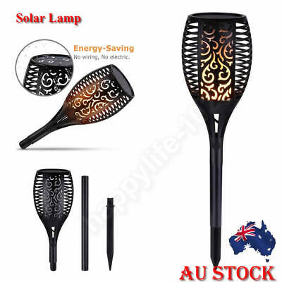 Solar 94 LED Path Torch Light Flame Lighting Flickering Outdoor Garden Lamp AU