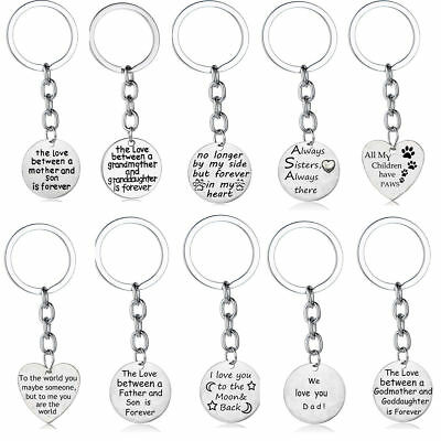 Gifts For Her Mom Dad Sister Daughter Son Family Presents Keychain Keyring Charm