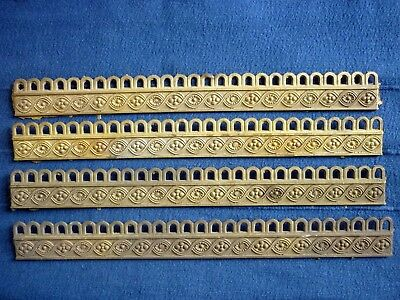 4 Lengths Of Quality Classic Cast Brass Decorative Furniture Applique / Gallery