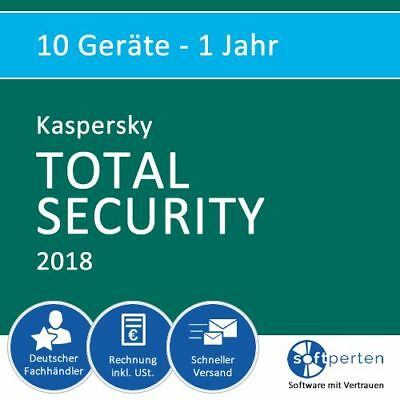 Kaspersky Total Security 2018 - Multi-Device, 10 Geräte - 1 Jahr, Download