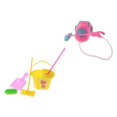 Plastic Vacuum Cleaner Mop Miniature Dollhouse Living Room Kitchen Ornaments