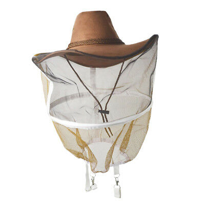 Beekeeping Veil Cow Boy Hat Beekeeper Protection Veil Hat Breathable Protect