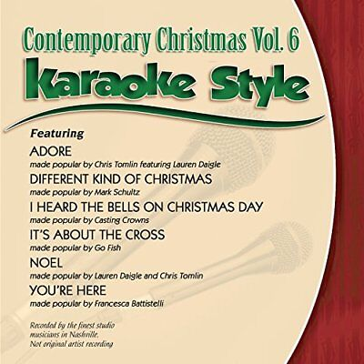 Contemporary Christmas Volume 6 Christian Karaoke Style NEW CD+G Daywind 6 Songs