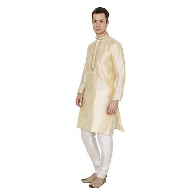 Ethnic Indian Golden Traditional Kurta Pajama Bollywood Men DIWALI Special