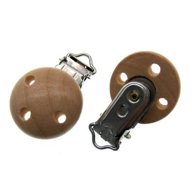 3pcs Nature wooden pacifier Clip wood Clip Suspender Clip DIY Supplies 5.5x2.9cm
