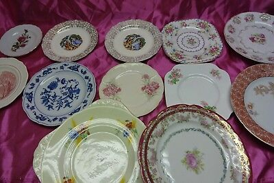 Lot Of 12 Plates Some Antique Vintage Contemporary Ornate Fine China