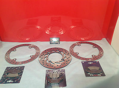 Set Front Brake Discs And Rear Honda Xl 650 Transalp 2003 2004 2005