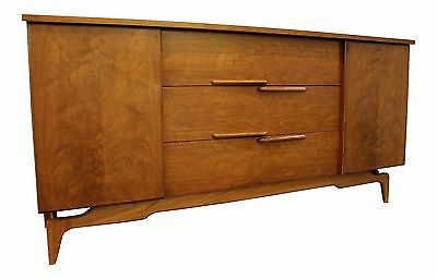 Mid-Century Danish Modern 2 Door Walnut Credenza on Splayed Legs #89