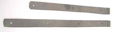 Vtg Pair Heavy Handmade Forged Wrought Iron Barn Door Strap Hinges Old Hardware