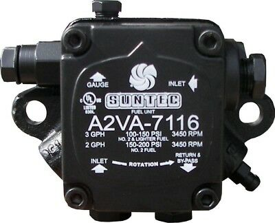 Pressure Parts A2VA-7116 100 PSI at 3 GPH A2VA-7116 Single Stage Oil Fuel Pump