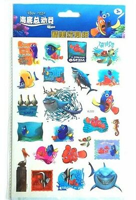 1x Disney Finding Nemo Temporary Tattoos ~ Dory Sea Fish Kids Fun Pocket Toys 🐠