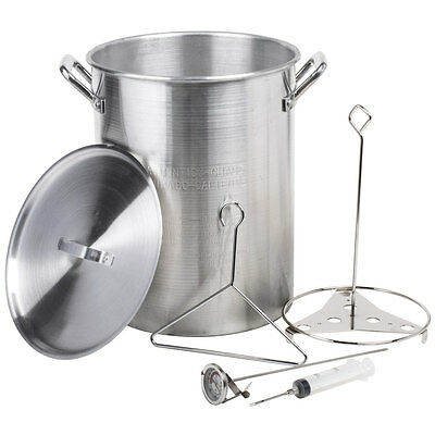 30 Qt. Aluminum Turkey Fry Pot / Stock Pot with Lid and Accessories