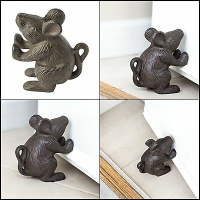 Vintage Antique Old Style Cast Iron Small Mouse Rat Home Decor Rustic Door Stop