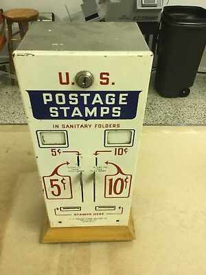 Vintage Usps Postage Stamp Coin Operated Vending Machine,