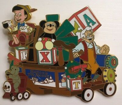Disneyland - Christmas Parade Toy Factory Float - Pinocchio Geppetto LE3600 Pin