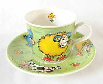 Dunoon Funky Farm Breakfast Cup and Saucer