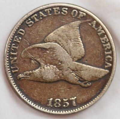 (X) 1857 Flying Eagle Cent 1c Penny US Coin
