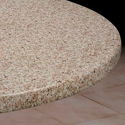 PicClick & ROUND ELASTICIZED TABLECLOTH Table Cover Granite Vinyl Fitted Cover 36\