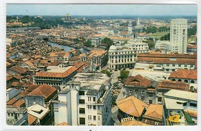 A BIRD'S EYE VIEW OF SINGAPORE TOWN: Singapore postcard (C31415)