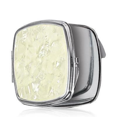 Avon Compact With Faux Mother- Of- Pearl Accent Mirror