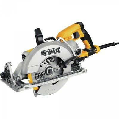 "DEWALT DWS535B 7-1/4"" 15 Amp Worm Drive Circular Saw with Electric Brake"