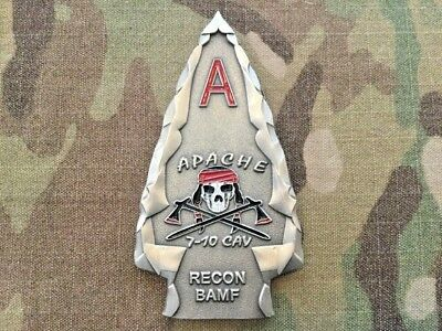 Challenge Coin US Army Apache Troop 7-10 Cav 1st Brigade 4th Infantry Division