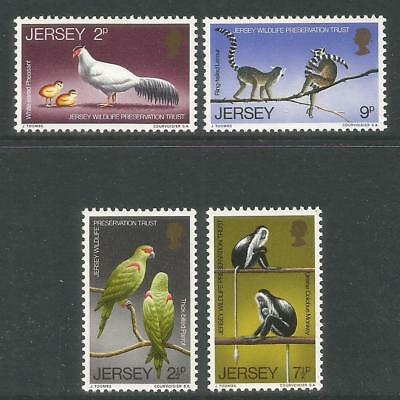 Jersey 1971 Wildlife Preservation--Attractive Animal Topical (49-52) MNH