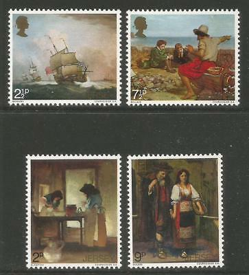 Jersey 1971 Paintings/Jersey Artists--Attractive Art Topical (57-60) MNH