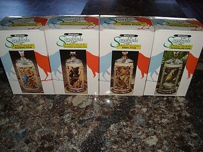 american songbirds stein series.anheuser-busch set of 4 – Free Shipping