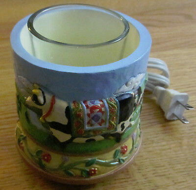 Jim Shore - Cow - Electric Votive Candle Warmer - Crazy Mountain