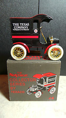 NEW- TEXACO 1905- Ford's First Delivery Car Bank -Ertl-#4-In BOX-1987-Nostalgic