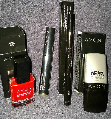 NEW Avon Mega Effects Mascara,Super Extend,Ultra Glazewear,Real Red Nailwear Pro