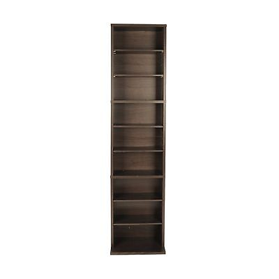 Cd Dvd Storage Tower Cabinet Wall Rack Movie Video Case Stand Media Shelf