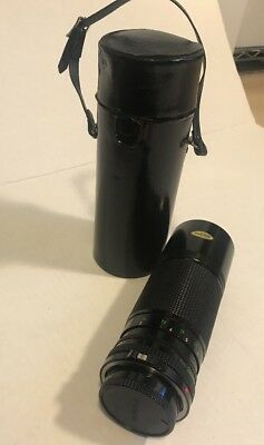 CANON AE-1 SLR camera FD 100-200mm F5.6 zoom lens & Case Ships FREE!
