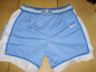 ef295d5b577 VINTAGE 1990's UNC NORTH CAROLINA TAR HEELS AUTHENTIC NIKE BASKETBALL SHORTS  36