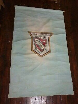 "3 Antique Odd Fellows Occult Patriarchs Militant Canvas Lodge Banners 36"" x 60"""