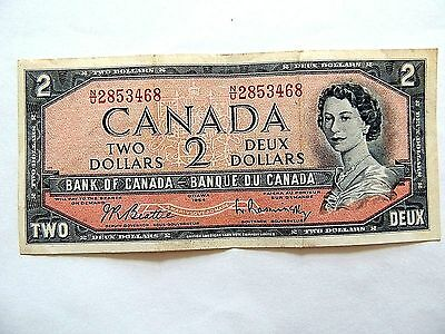 1954 Canada Two ($2) Dollar Note