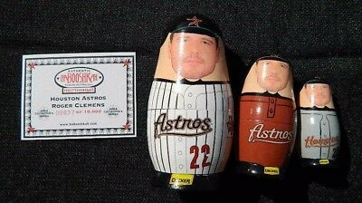Houston Astros #22 Roger Clemens Limited Edition Wooden Nesting Dolls.