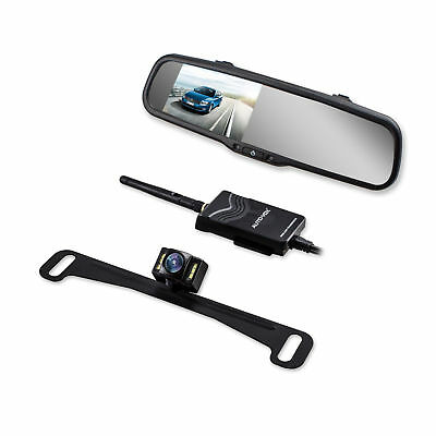AUTOVOX Wireless 4.3'' LCD Car Rear View Mirror Monitor + Reverse Backup Camera